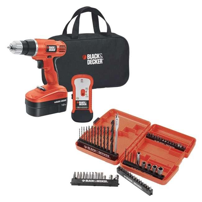 GCO18SFB + 71-966 Black & Decker 18V Drill Driver Kit & 66 Piece Bit Set