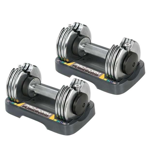 Proform Adjustable Weights Review: ProForm 25-Pound Adjustable Dumbbells : PFSAW12514