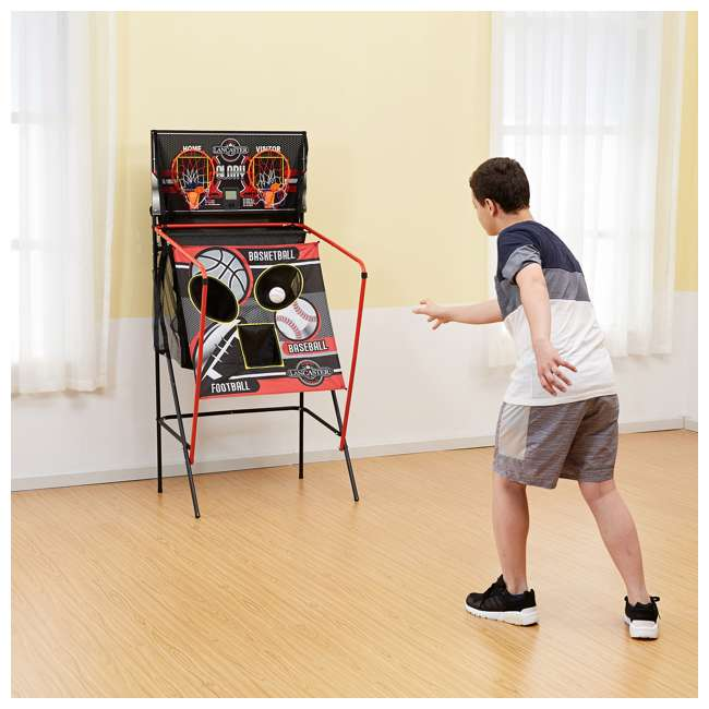 BBG019_018P-U-A Lancaster 2 Player Scoreboard Arcade 3 in 1 Basketball Sports Game (Open Box) 8