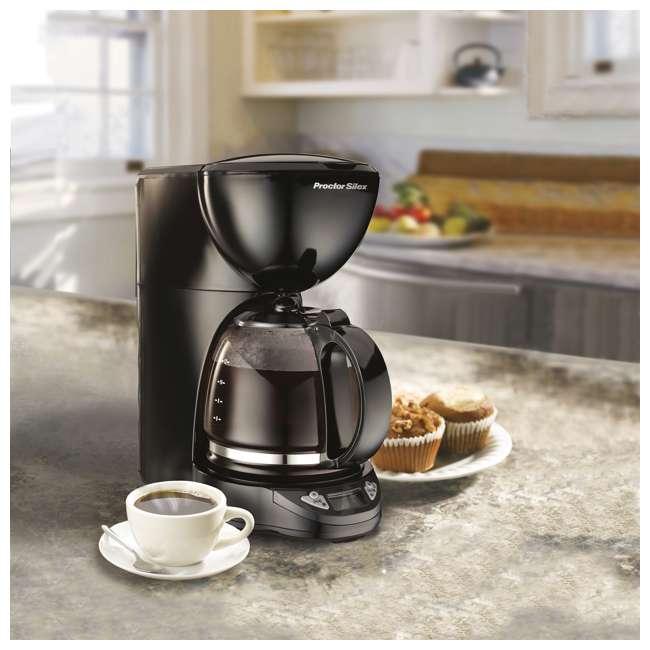 49758A Proctor Silex 12-Cup Coffee Maker, Black  2