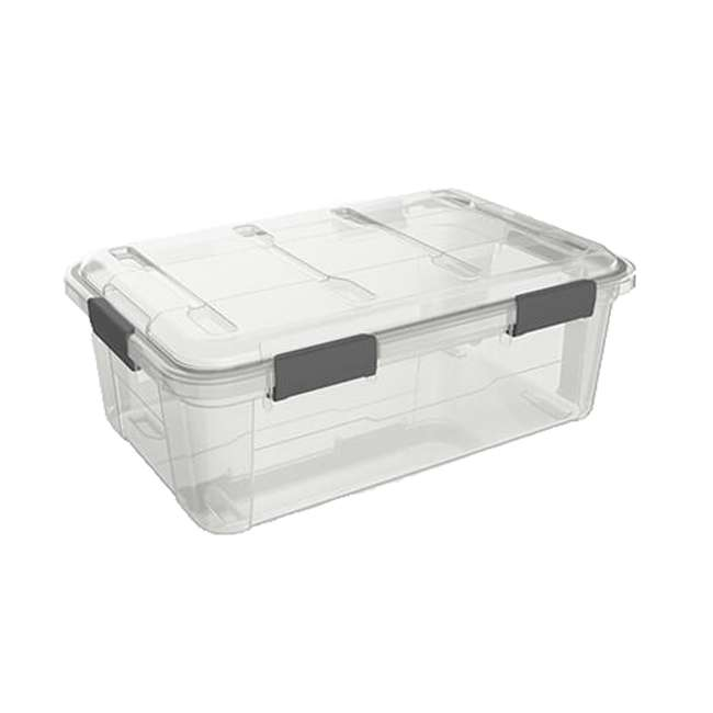 FBA32226 Ezy Storage Weather Proof IP65 32 Liter Plastic Storage Container Bin Box w/ Lid 4