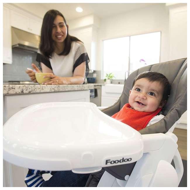 JVY-2129 Joovy Foodoo Adjustable Reclining Portable Baby High Chair, Gray 2