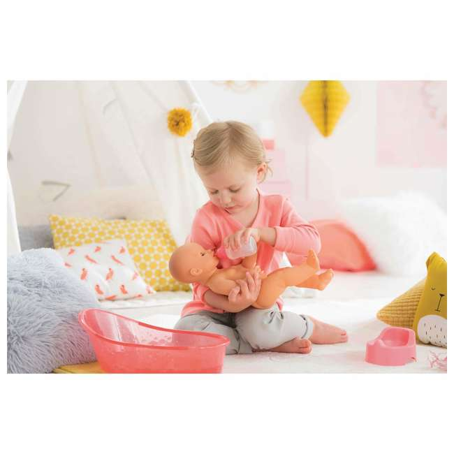 FPK23 Corolle Mon Grand Poupon Drink & Wet Potty Training Emma Doll w/ Jar and Bottle 3