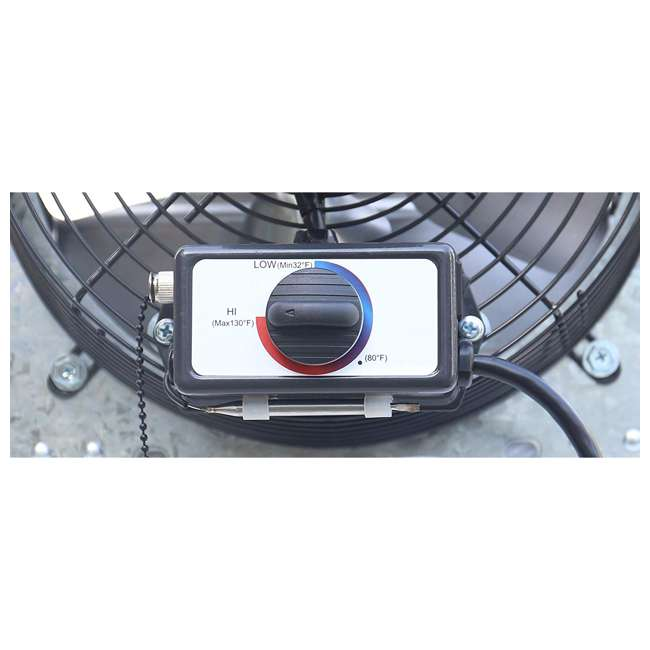 ILG8SF10V-T iLiving ILG8SF10V-T 3 Speed 10 Inch Exhaust Attic Garage Grow Fan w/ Thermostat 4