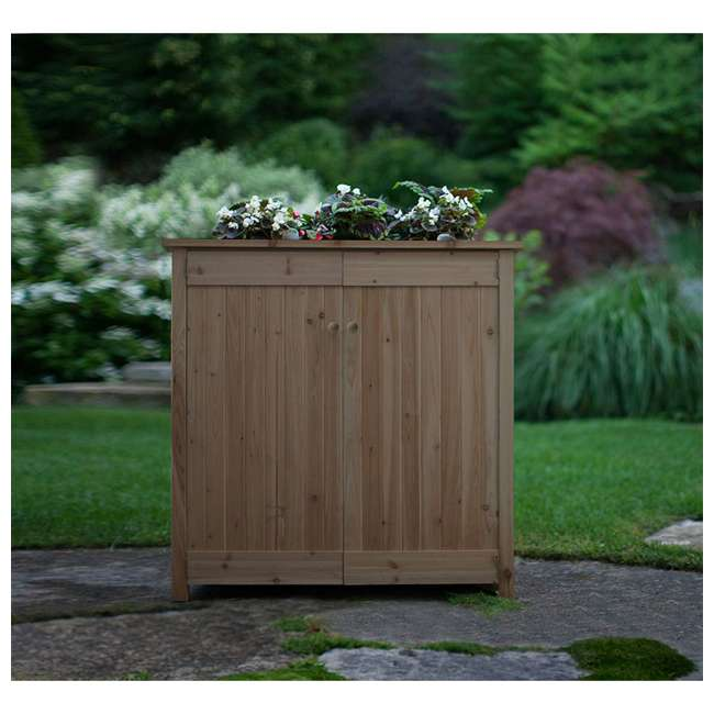 ALG-32003 Algreen 32003 ErgoGarden Outdoor Weather Resistant Deck Box and Elevated Planter 1
