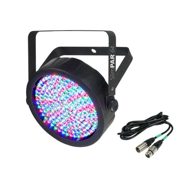 SLIM-PAR64 + DMX3P25FT Chauvet Slimpar 64 LED Slim Style Par Can DJ Stage Light + 25' DMX Cable
