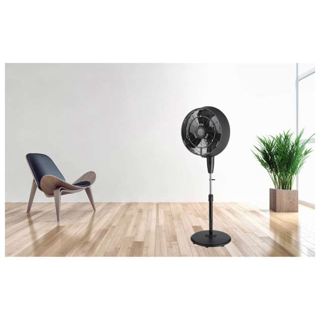 FS45-9L Pelonis FS45-9L 3 Speed Indoor Oscillating 18 Inch Stand Fan with Remote, Black 1