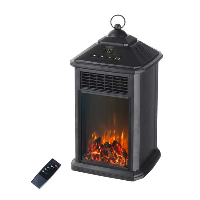 YH-28 LifeSmart YH-28 400W Lantern Electric Infrared Space Heater with Flame Effect