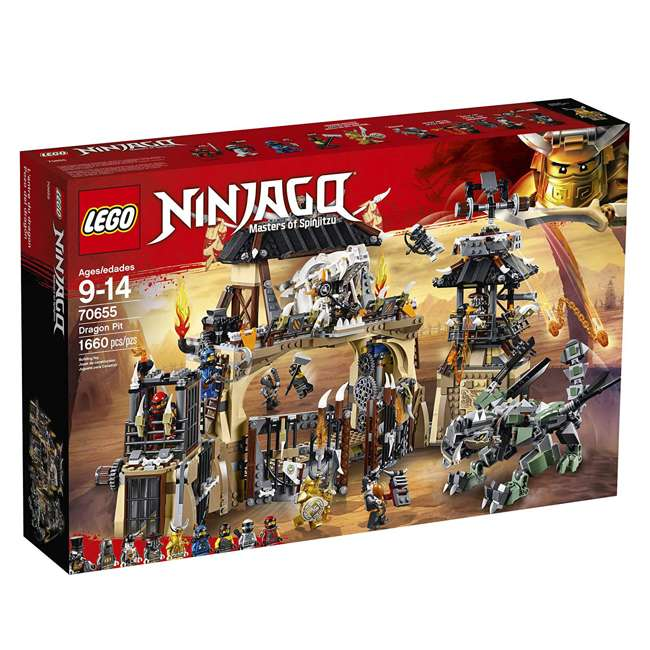 6212703-U-A LEGO NINJAGO Dragon Pit 1660 Piece Castle Set 9 Minifigure Characters (Open Box) 5