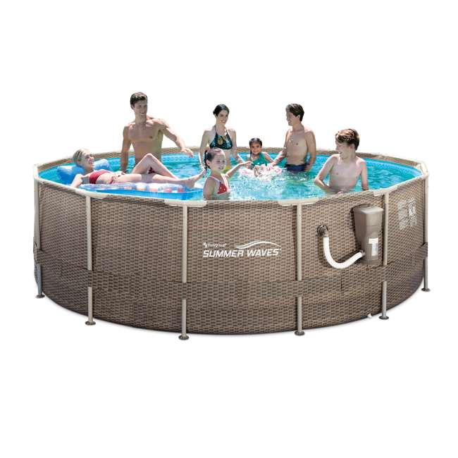 P20014482167 + K70927E00167 + KF0226B00167 14 Foot x 48 Inch Regular Frame Pool & Corona Flip-Flop Floats & Corona Cooler 3