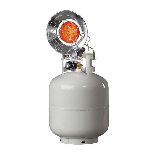 MH-F242100 Mr. Heater Outdoor 15,000 BTU Stainless Steel Propane Gas Single Tank Top Heater