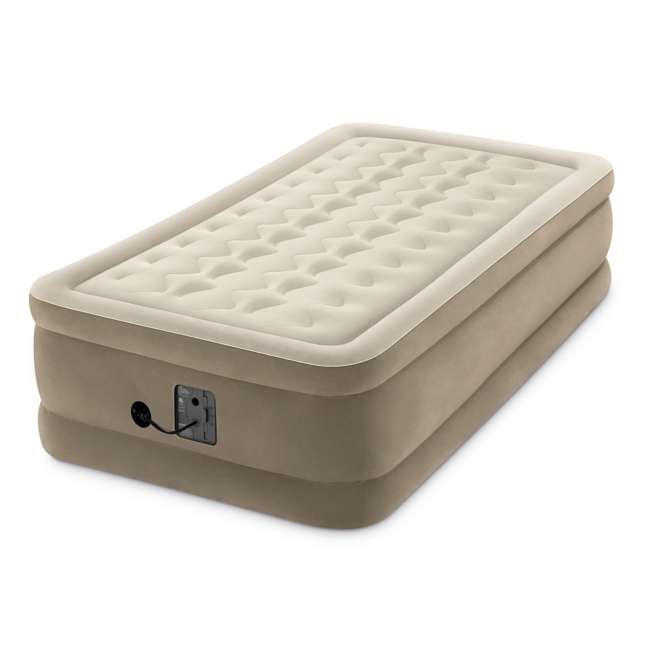 64455EP Intex Ultra-Plush Inflatable Airbed Mattress w/Built-in Pump, Twin