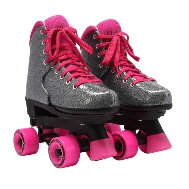 168222 Circle Society Bling Sizzling Pink Kids Skates, Sizes 3 to 7