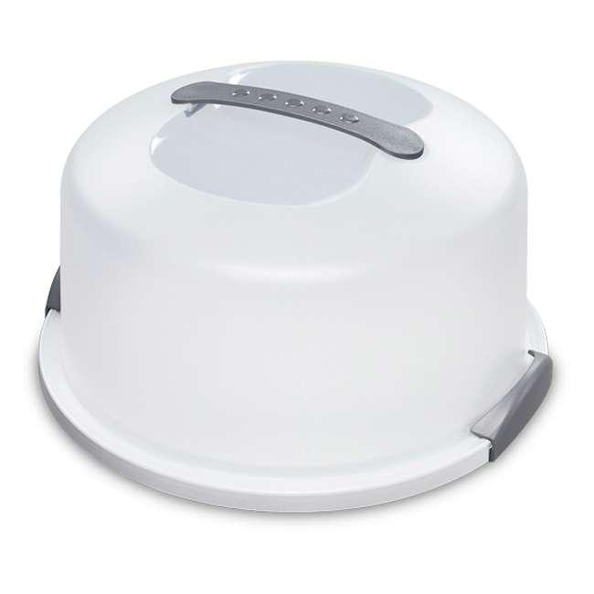 4 x 02008004-U-A Sterilite Latching Cake Server Carrier Keeper w/Handles, One (Open Box) (4 Pack)