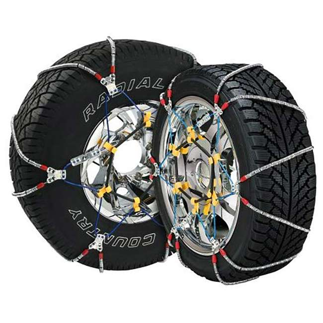 SZ131 Security Chain SZ131 Super Z6 Car Truck Snow Radial Cable Tire Chain (2 Pack)