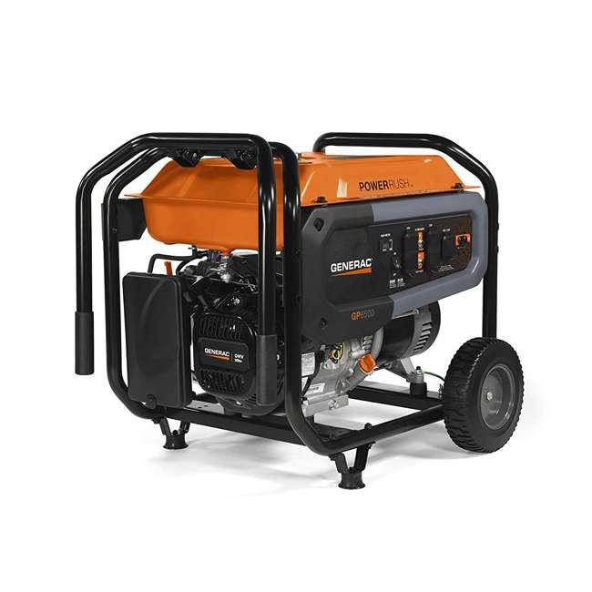 GNRC-7690 Generac 7690 GP6500 COSense 6500 Watt 389cc Portable Wheeled Gas Power Generator 1