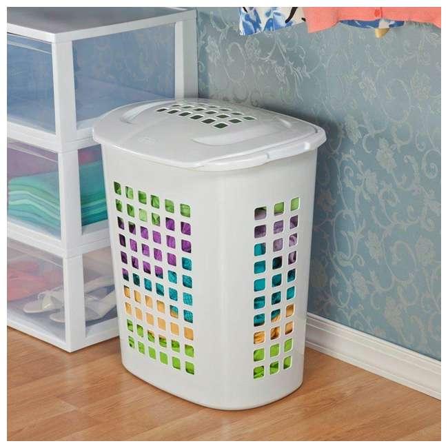 12218004-U-A Sterilite 2.3 Bushell 81 Liter Lift Top XL Laundry Basket Hamper (Open Box) 4
