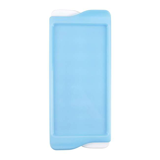 34881 OXO Good Grips Durable Lightweight Kitchen Covered Ice Cube Tray, White & Blue 1