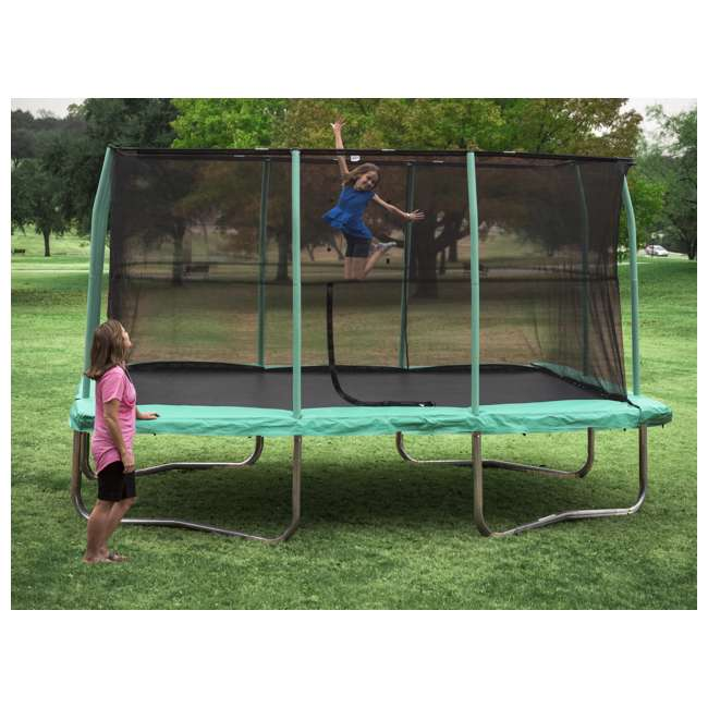 JumpKing 10 X 14 Foot Rectangular Trampoline With Safety
