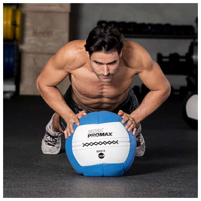 RPX12 Champion Sports Soft Shell Rhino Promax Slam Royal Blue Medicine Ball, 12 Pounds 2