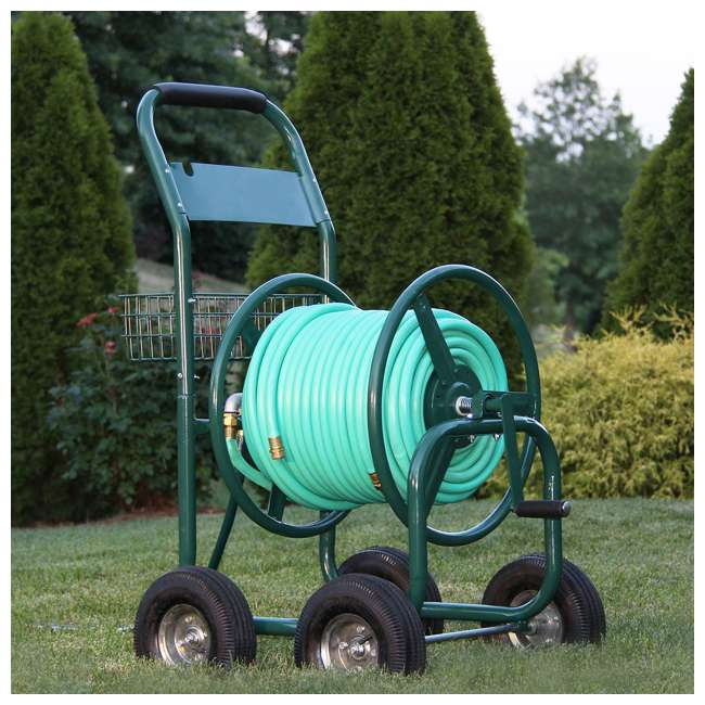 Liberty Garden Products 4 Wheel Garden Hose Reel Cart