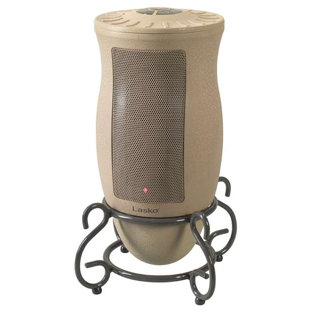 LKO-6435-TN Lasko 6435 Designer Series Decorative Base Oscillating Ceramic Space Heater, Tan