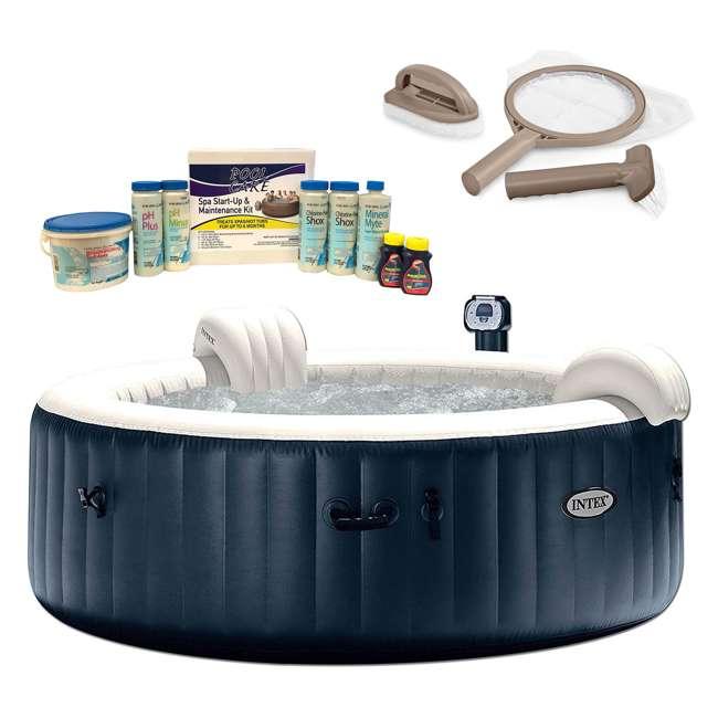 28409E + 28004E + QLC-14895 Intex Pure Spa Inflatable Spa, Maintenance Kit, & Chemical Kit