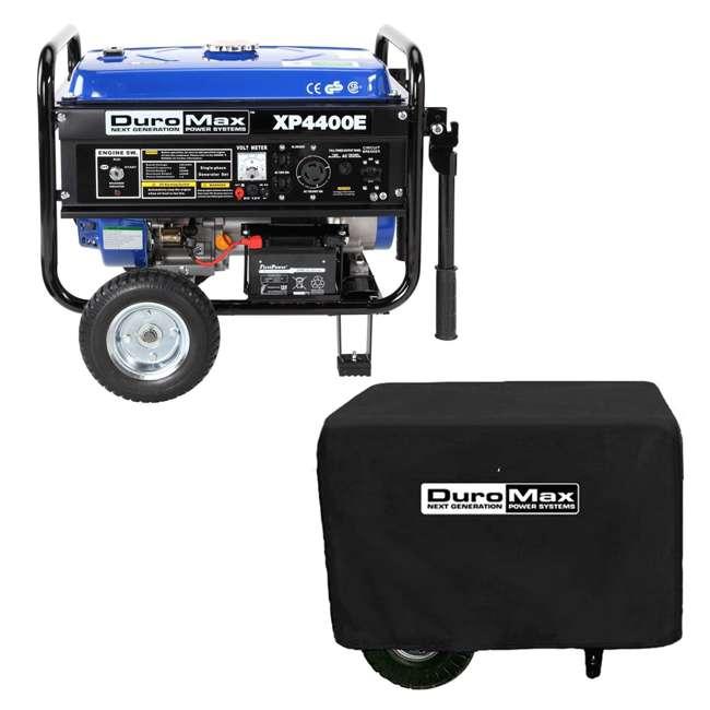 XP4400E + XPSGC DuroMax 4400 Watt RV Grade Gas Generator & Generator Cover, Black