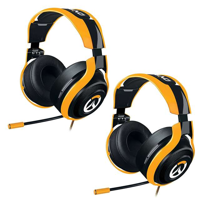 RZ04-01920100-R3M1 Razer ManO'War Overwatch Tournament Edition Over Ear Headset with Mic (2 Pack)