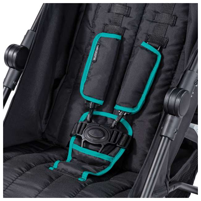 32693 Summer Infant 3Dlite Lightweight Folding Convenience Toddler Baby Stroller, Teal 10