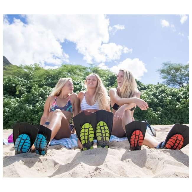 TS-SS-W5-Y3 Wildhorn Topside Women's 5 Youth 3 Hydro Snorkel Fins, Sharkskin (2 Pack) 11