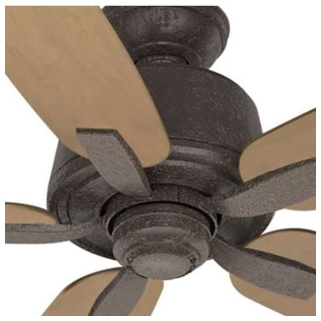 54133 Casablanca 54133 Areto 54 Inch Industrial Rust Ceiling Fan with 5 Rustic Blades 2