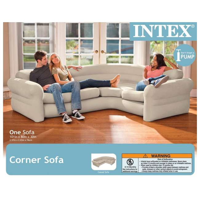 Inflatable Sofa Review: Intex Inflatable Corner Sectional Sofa : 68575EP