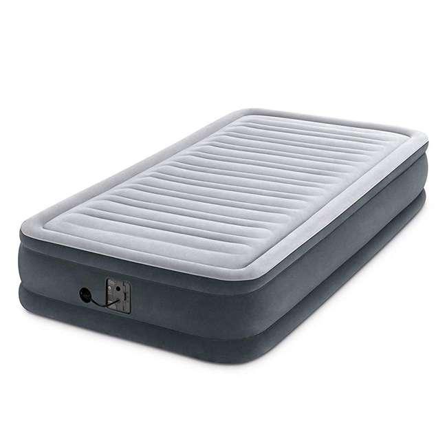 3 x 67765EP Intex Comfort Plush Dura Beam Plus Series Mid Rise Airbed w/ Pump, Twin (3 Pack) 2