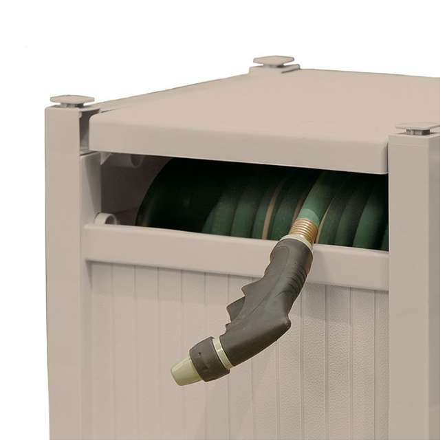 PHH100D Suncast 100-Foot Hideaway Hose Reel, Taupe (Open Box) 4
