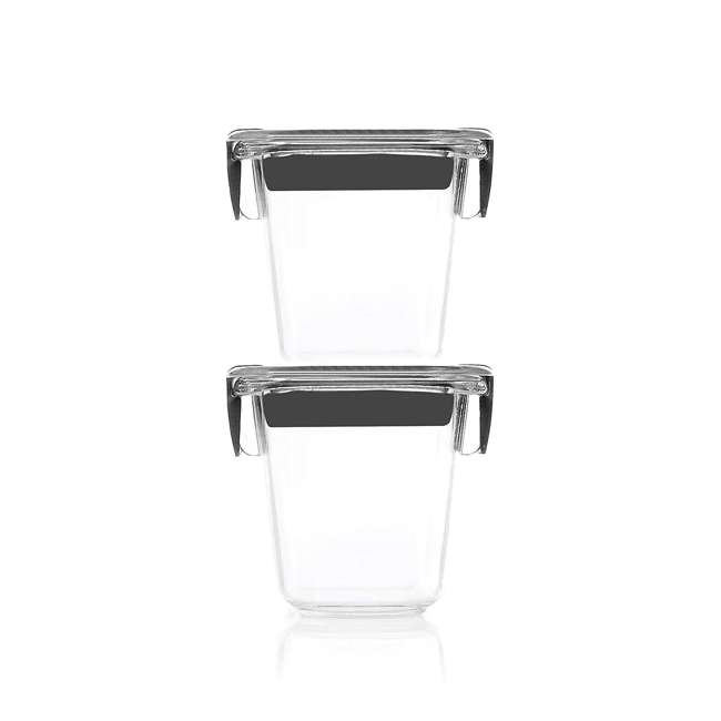 1991154 Rubbermaid Brilliance Food Storage Container, Mini, 0.5 Cup, Clear, 2 Pack