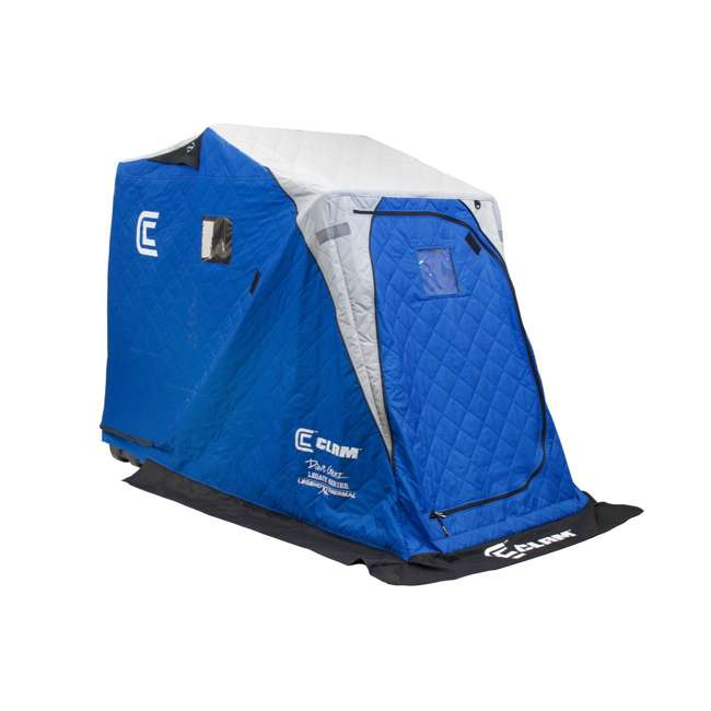 CLAM-12564 Clam 12564 Legend XL Thermal Ice Fishing Shelter with Deluxe Swivel Seat, Blue