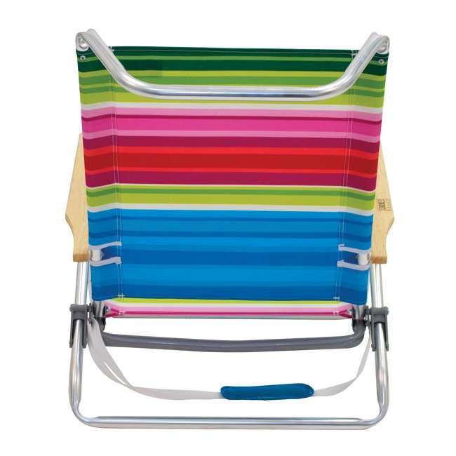 ASC590-1803-1 Rio Classic 5 Position Aluminum Lay Flat Folding Beach Lounge Chair, Beach Club 5