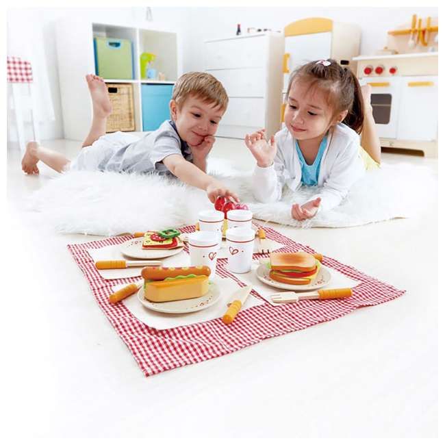 HAP-E3136 Hape Kids Wooden Lunch Time Picnic Play Set 5
