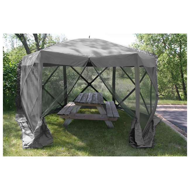 CLAM-ES-114246-U-B Clam Quick Set Escape Portable Camping Outdoor Gazebo Canopy Shelter, Gray(Used) 2