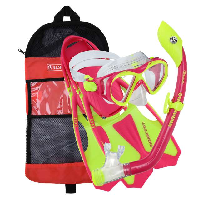 281104 U.S. Divers Youth Kids Buzz Junior Snorkeling Set with Mask, Fins and Snorkel
