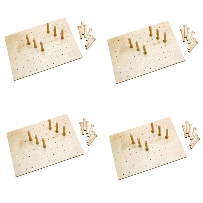 4 x 4DPS-3021 Rev-A-Shelf 30 x 21 Inch Wood Peg Board System Deep Drawers Organizer (4 Pack)