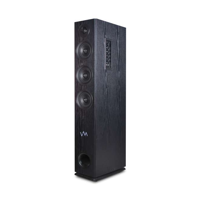 EXAT31-BK VM Audio EXAT31 Black Floorstanding Powered Bluetooth Tower Home Speakers Pair 1