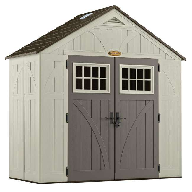 BMS8400D Suncast  8' x 4' Outdoor Patio and Garden Storage Shed