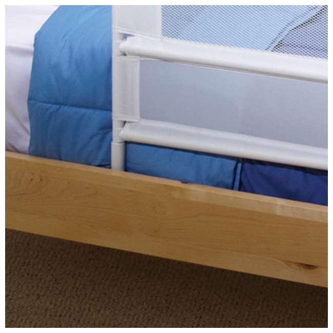 BR303 KidCo Telescopic 2-Pack Children's Bed Rail, White (2 Sets) 4