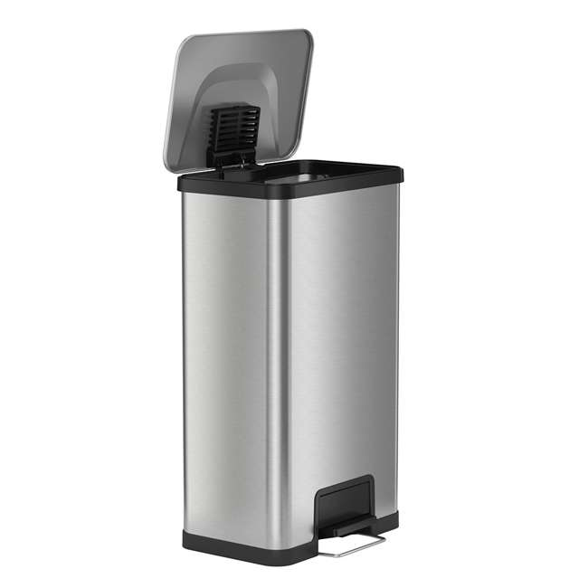 PC18SN iTouchless 18 Gallon Step Trash Can with AirStep Pedal and Built-In Deodorizer 2