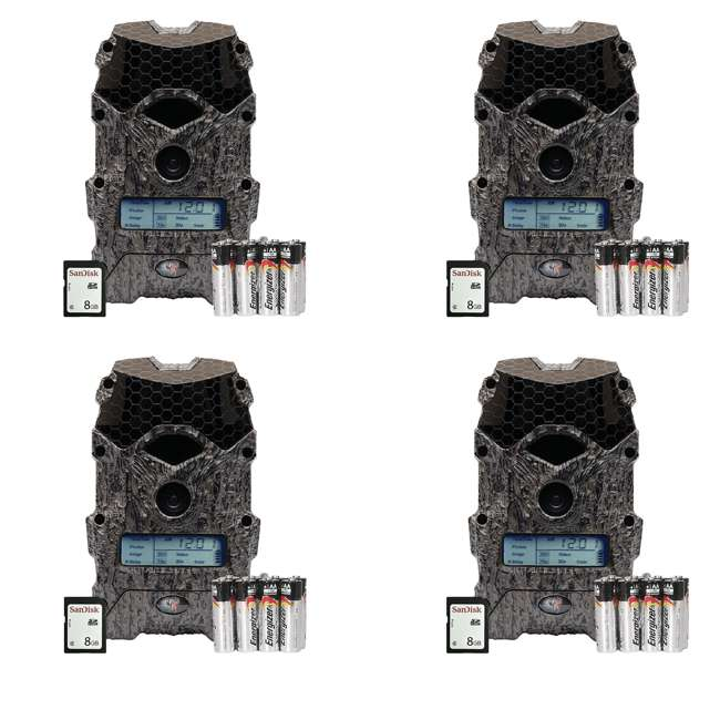 4 x WGI-M16B31DE2-8 Wildgame Innovations Mirage 16MP Game Camera Kit (4 Pack)