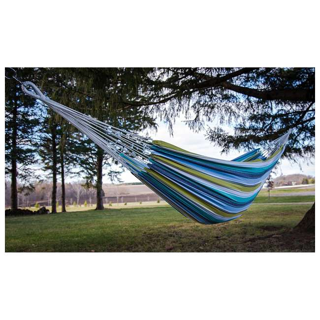BRAZ130 Vivere Brazilian Style Cotton One Person Outdoor Patio Hammock, Plumeria (Used)