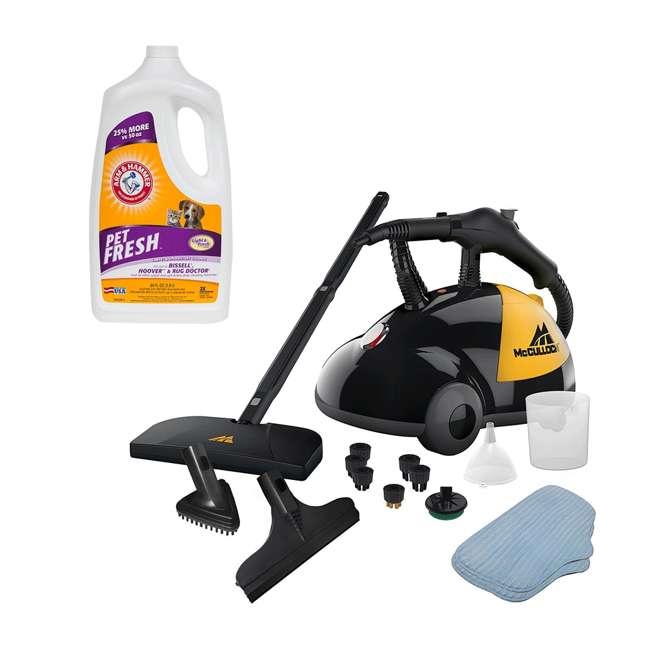 MC1275 + 69955B McCulloch Steam Cleaner & Arm & Hammer Pet Fresh Carpet Cleaner