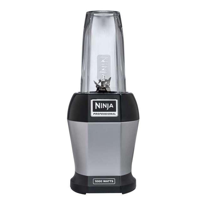 Ninja Professional Blender + Nutri Ninja Single Serve Blender (Refurbished) : BL660-RB + BL454-RB